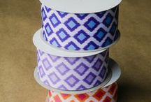 p r i n t s. / All RABOM Printed Ribbon is made in the USA and can be custom printed! <3