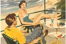 vintage&retro-illustration / Pin-up Girls 1930s 1940s 50s Oldies but goldies Old times Retro Vintage 50s 60s 70s / by Candan Ayas