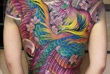 Tattooed / watercolour tattoos, artistic tattoos, skin art, spiritual art, bodyart.