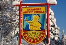 Arctic Circle / Santa Claus Village, where Santa Claus Reindeer is located, is crossed by the magical arctic circle line.