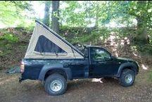 Pickup Truck Camping / Pickup truck camping.