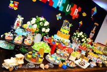 Festa Arthur 1 ano / Brinquedos Antigos! Sobre pipas, cataventos, trenzinhos etc