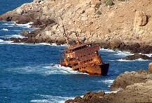 Abandoned and wrecked ship