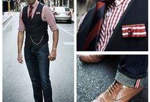 Styling: Jeans-Kombinationen / Früher war sie verpönt, heute gehört sie in jeden Kleiderschrank: die Jeans. Doch wie kombiniert man die Jeans, das Jeanshemd und die Jeansjacke mit Krawatte, Fliege oder Einstecktuch? Hier findet Ihr stylische Inspirationen!
