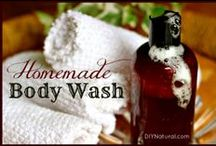 Bath & Body Soap recipes / Get glowing, healthy skin with natural ingredients you can find at home or your local grocer with these easy soap & body wash recipes!