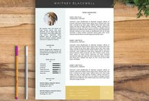 Resume / Cover letter design / typography, design of cover letters.