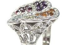 GEMSTONE DIAMOND RINGS / Beautiful natural gemstone and diamond rings