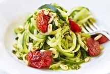 Courgetti and courgette recipes / Sometimes it's about quality over quantity of vegetables. Have a look at our courgette and courgetti salad, risotto and antipasti dishes which are sure to inspire you to add more greens to your diet.