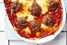 Meatball galore / Meatballs are always popular and a great family, budget dish. We have ten recipes for classic recipes and modern twists for meatballs (and a veggie recipe too!). Pork and sage meatballs, Italian baked meatballs, traditional smoky Spanish albondigas and even a turkey meatball sub, there are plenty to choose from.