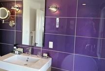 Glass Tile for the Bathroom / Glass tiles & panels will take make your bathroom look stunning.