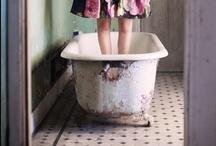 En el baño
