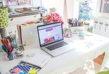 Craft and design space / Un pequeño espacio y mucho ingenio para tener un lugar cómodo para crear.