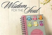 Wisdom For The Soul Collection - Owl Design / Adorable pink owl design with brocade pattern; Scripture verse from Proverbs 24:14.   Wisdom is sweet to your soul Christian gift you'll love to give.