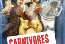 """Carnivores / Learn more about carnivores, herbivores, and omnivores after reading """"Carnivores"""" by Aaron Reynolds.  / by NIU STEAM Works"""