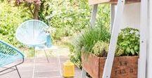 DIY Garten Deko + Möbel / DIY Möbel, Holz, Paletten, Beton, DIY Deko, Gartendeko, Gartengestaltung, easy, low budget, wiederverwerten, bunt, DIY Sitzplatz, heimwerken, DIY Anleitung, Boho, vintage, urban jungle, Stadtgarten, kleiner Garten, selbermachen