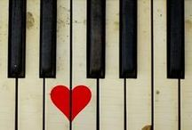 "\music, my love. / ""Where words fail, music speaks. - Hans Christiansen Andersen"" / by Melissa"