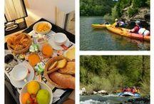 Séjour Terre et Eau dans la Vallée du Lot à L'Hôtel Les 2 Rives / Séjour entre amis ou en famille à l'hôtel les 2 rives.  Au programme des paysages exceptionnels et préservés en randonnée et en canoë kayak, des sensations fortes en Rafting et des moments ludiques en Paddle. #tourismevalléedulot #valléedulot #standuppaddel #rafting l'eauenlozère #les2rives #lozère #randonnéelozère