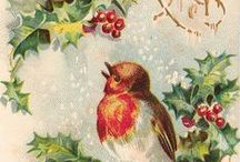Christmas~Vintage Cards & toppers / by Pauline Zinie