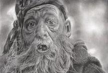 Portofolio / Graphite and Charcoal Portraits