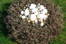 By me: Easter decorations / Osterdekorationen von Yvonne Reichmuth