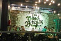 The Good Burger (TGB) - Panespol / La nueva cadena de hamburguesas The Good Burger ha decorado todas sus tiendas con los paneles de Panespol imitación ladrillo. Para este proyecto, la marca eligió un panel con un diseño personalizado.
