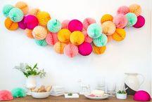 Decoration, fans, honeycombs