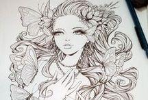 Draws & fanart / Dessins, fanart de disney,inspiration pour des dessins sur ordinateur, tutoriels pas à pas pour dessiner des choses raffinées... Bienvenue dans votre paradis!!!
