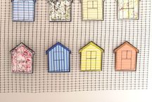 Beach Huts / Inspiration, research and art onthe theme of Beach Huts