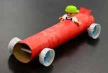 Recycling - Papprollen / Basteln mit Küchenrollen, Toilettenpapier-Rollen, Packpapier-Rollen... ab sofort werden alle Rollen nicht mehr weggeworfen sondern gesammelt! Die  Kinder hören nicht mehr mit dem Basteln auf, wenn man ihnen genug von diesen tollen Rollen zur Verfügung stellt.