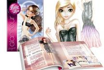 Sketchbooks - Lilla Lou. / Sketchbooks for girls - fashion designer. :)