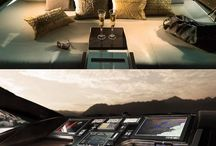 Yacht interior.