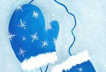 Winter / Der Winter ist ein rechter Mann, wenn Stein und Bein vor Frost zerbricht und Teich' und Seen krachen - das klingt ihm gut... dann ist Bastelzeit..