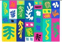 Matisse - Collagen / Man kann fast jedes Kind begeistern mit farbenfrohen Papierschnipseleien à la Matisse zu experimentieren.