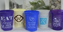 Personalized Wedding Stadium Cups / Design your own wedding cup!  Stadium cups come in various sizes and can be custom designed for you and your soon-to-be spouse!  All are BPA free as well as made and printed in the USA.