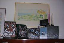 Le mie tele / dipingere su tela è un'esperienza molto recente, ma come per la pittura sui sassi è stato amore a prima vista.
