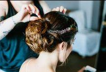 Hochzeit • Brautfrisur / Tolle Frisuren für Bräute, Trauzeuginnen und Gäste.