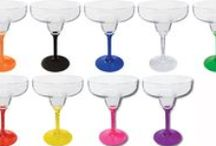 Personalized Acrylic Martini and Margarita Glasses / These are a great addition to any event!  Just like the mini sampler versions, there are so many stem colors to choose from.  All made and printed in the USA.