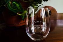 Inspired by a Sextant / Customized Glassware, nautical coordinates