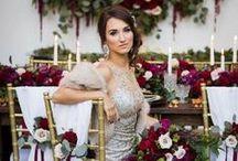 Hochzeit • Marsala Hochzeitsfarbe / Heiraten mit Marsala - Pantone Farbe 2015