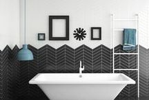 CHEVRON TILES / #CHEVRON collection is made on white body. This range is developed on soft and avant-garde colors. There are two pieces, left and right to do several kind of combination. You can use both pieces or only one side to create different ways of tiling