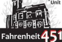 Teaching FAHRENHEIT 451 by Ray Bradbury / A fiery teaching unit for Ray Bradbury's classic novel Fahrenheit 451. 137 pages of activities that are sure to engage high school English students. Plot, Conflict, Characters, Writing Journals, Pop Quizzes, Vocabulary, Figurative Language, Projects, Essay by Created for Learning