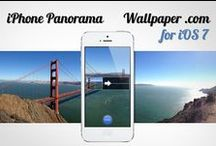 iPhone Panoramic Wallpaper / iPhone Panorama Wallpapers & Photos for the new iOS7! Panoramic photographs with themes around nature, landscapes, abstracts and more!