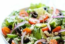 [Salad Sensations] / Find the best green salad, pasta salad and dressing recipes for a sensational side, main entree or pot luck contribution. / by Desserts Designed