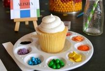 [Cupcake + Culinary Parties] / How about rounding up a few of your daughter's friends (her too) and have a cupcake decorating party. Or we can have a few drinks and giggle with girlfriends at a culinary bridal shower. Browse this board for fab invitation, food and decor ideas! / by Desserts Designed