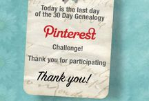 30 Day Genealogy Pinterest Challenge / Join Genealogy Girl Talks for a 30 Day Genealogy PINTEREST Challenge! Its easy to do and fun! We'll pin our favorites pictures, quotes, documents, links, and all things Genealogy & Family History! Click the pins to get started! Visit us at http://www.genealogygirltalks.com