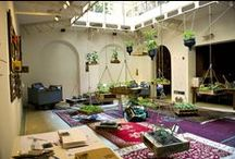 Courtyards / courtyards and patio.