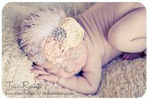 Baby flowers / Shabbychic haarbandjes handgemaakt.