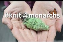 Knit 4 Monarchs / To increase survival odds, choose camouflage colours for your DIY chrysalises.  Share your own creations with #knit4monarchs.  Watch video at: http://ow.ly/RDMA8