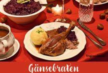 Food • Christmas Dinner / Auf diesem Board findest du tolle Ideen für dein Menü an Heiligabend. Viele passenden winterlichen Rezept Ideen passend zu einem schönen Fest.