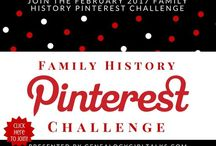 Feb 2017 Family History Pinterest Challenge / Join Genealogy Girl Talks February 2017 Family History PINTEREST Challenge! Its easy to do and fun! We'll pin our favorites pictures, quotes, documents, links, and all things Family History! Click the pins to get started!